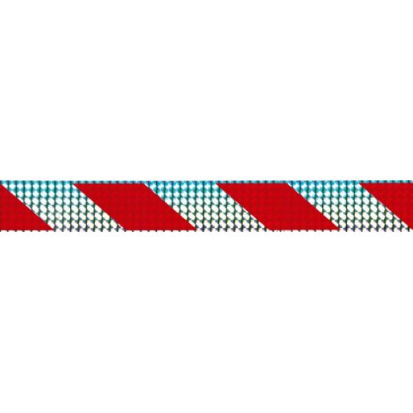 Отражатель-зебра , серебро , кубик (5х38) комплект