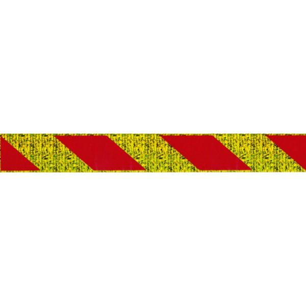 отражатель-зебра , стекло , золото (4.3х34) (50 комплектов)